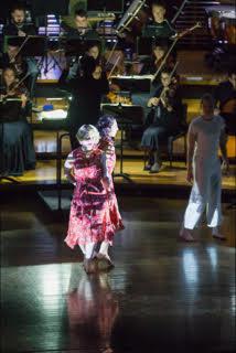 Jessica Aszodi (Anna I) and Marlo Benjamin (Anna II) performing Kurt Weill and Bertolt Brecht's  Seven Deadly Sins. © 2017 The University of Sydney. Photograph by David Goldman.