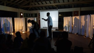 Volunteer-actors from TCT performing in their community. Photo courtesy of Beyond Social Services.