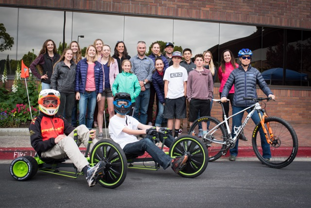 Our visit at Giro headquarters was awesome! We even got to race the Green Machines…It was a great reminder of how racing is a game and how fun it is!!