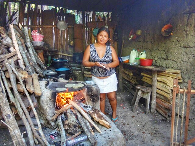 Handmade tortillas in Guatemala