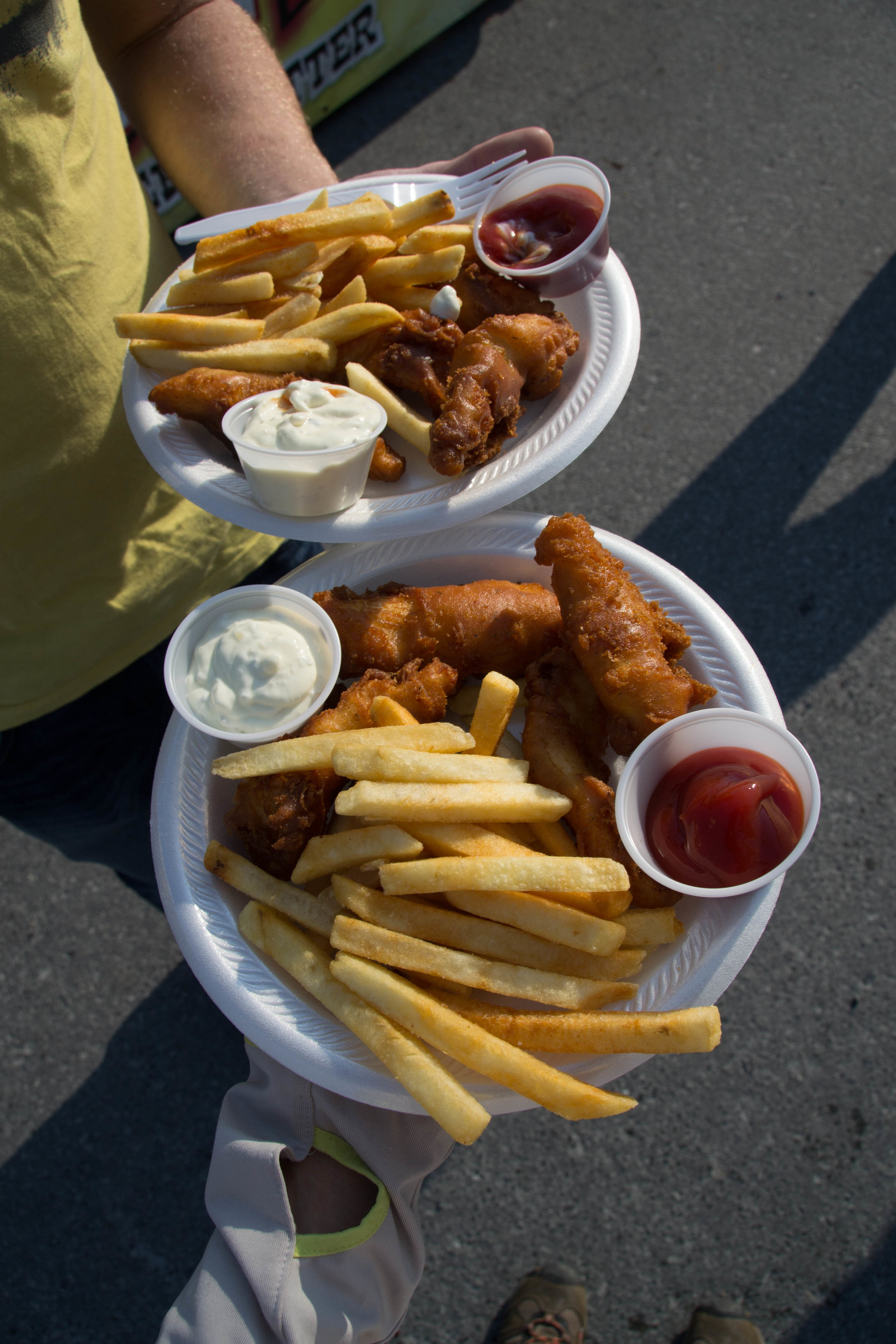 where else would you have the best fish n chips? probably in seward where today's halibut is whats on the plate!  melts. in. your. mouth.
