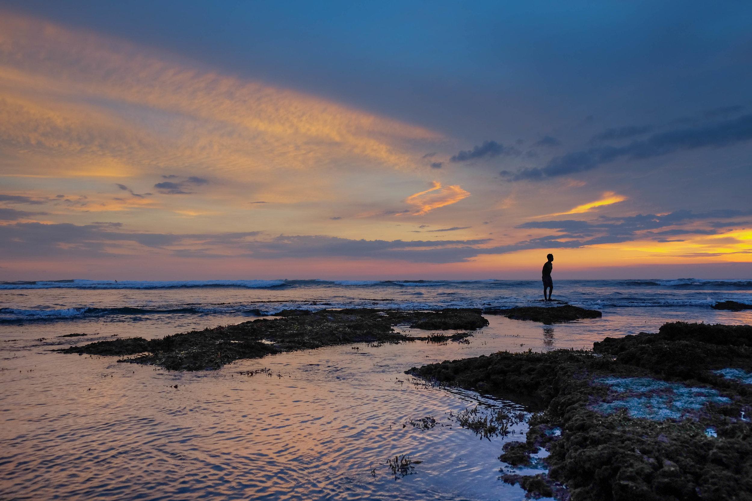 sunset at Batu Balong Beach in Bali