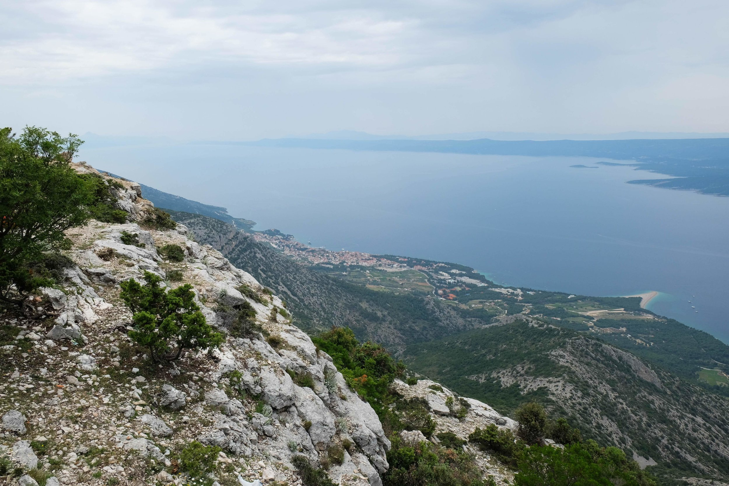 brac island, croatia. you can see bol beach in the distance which is where we spent the rest of the day