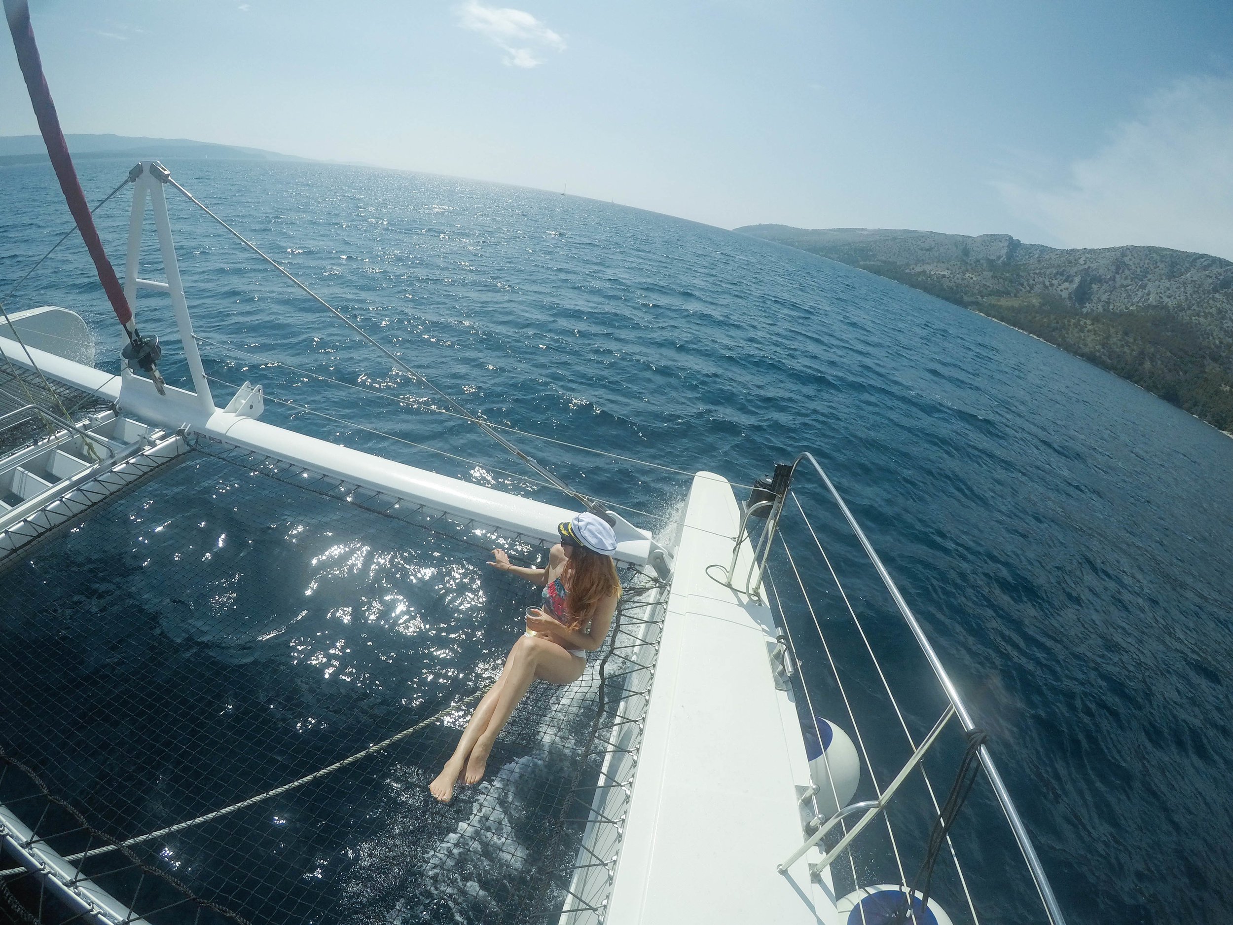sailing around croatias islands is one of the best past times, two of our days were spent on boats!