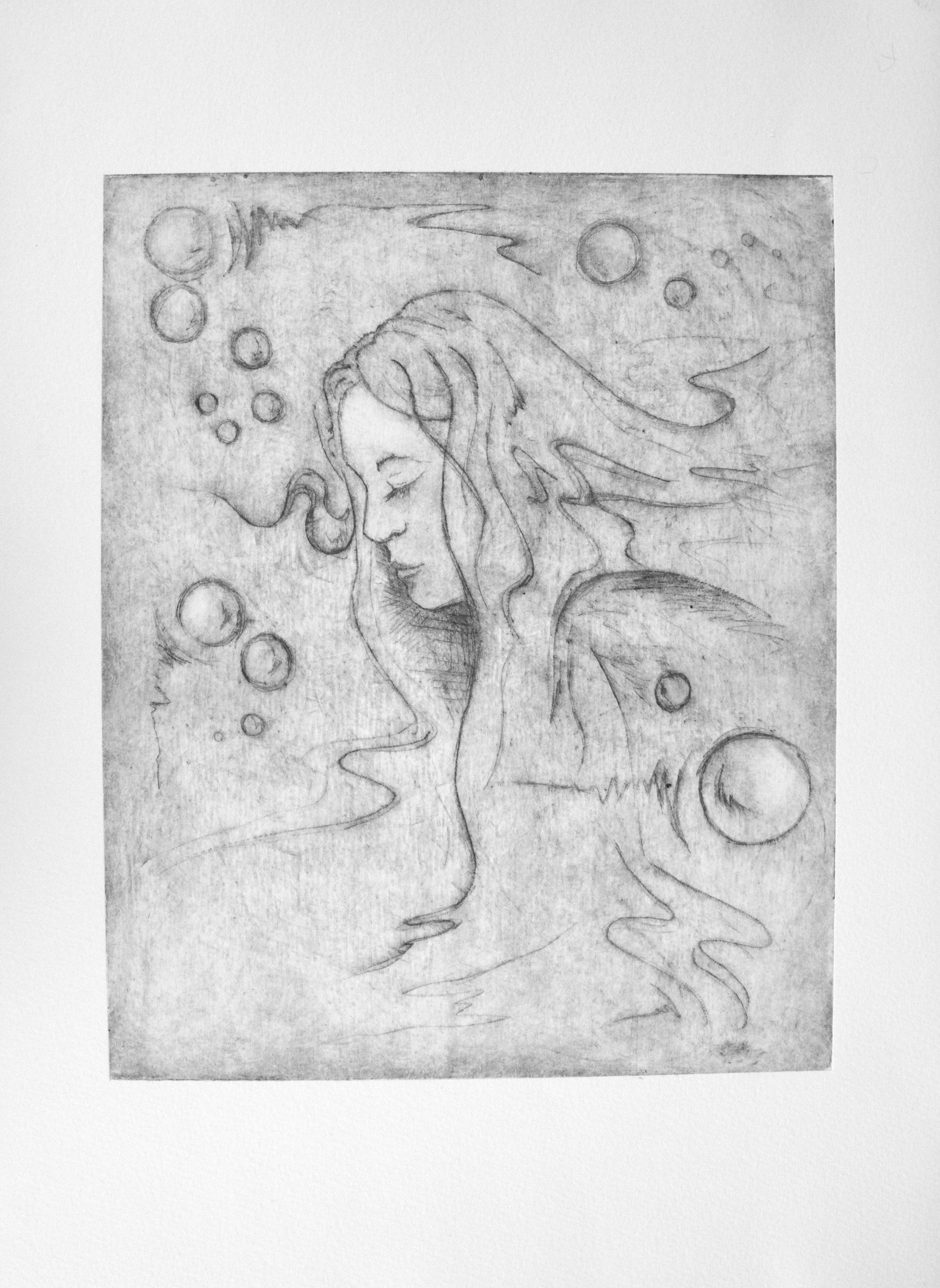 Misty Lady_11x15_Etching on zinc plate.jpeg