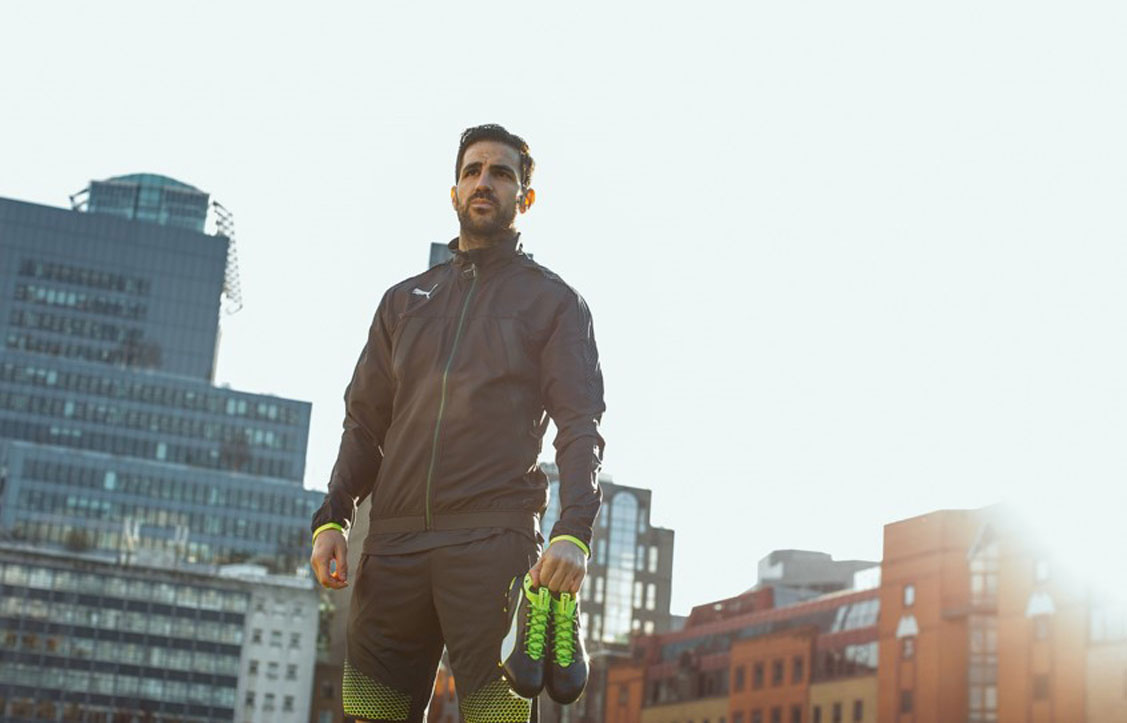 Geared for genius, Cesc looks a perfect fit for the new evoTOUCH