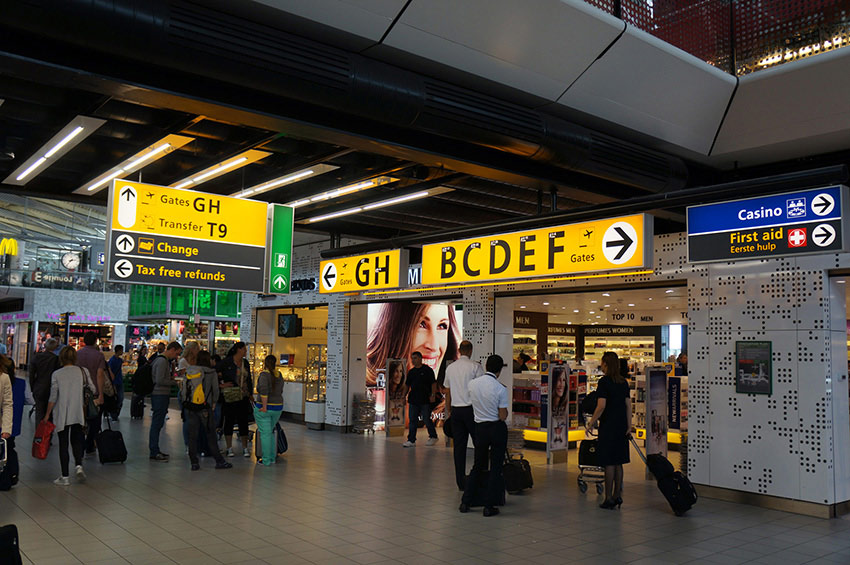 Information system Schiphol Airport