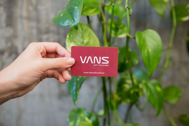 - vans gift cards, preloaded with any amount for the ultimate foodie gift
