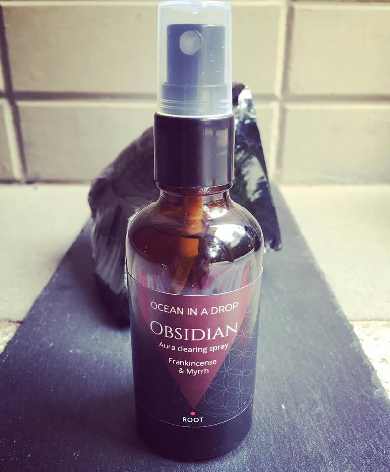 Obsidian Aura clearing spray - keep your aura and space energetically clean
