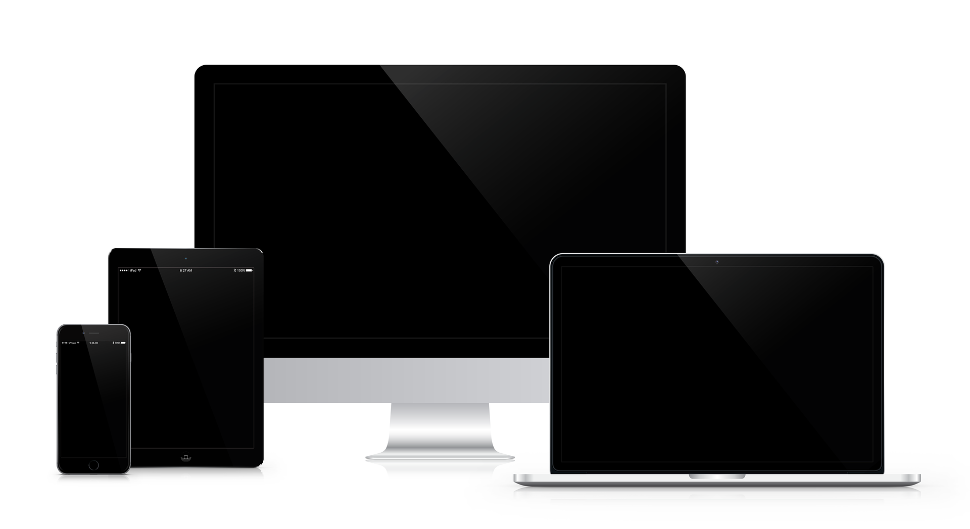 Screens in all sizes ready to grab your attention and hold on to it for as long as it can.