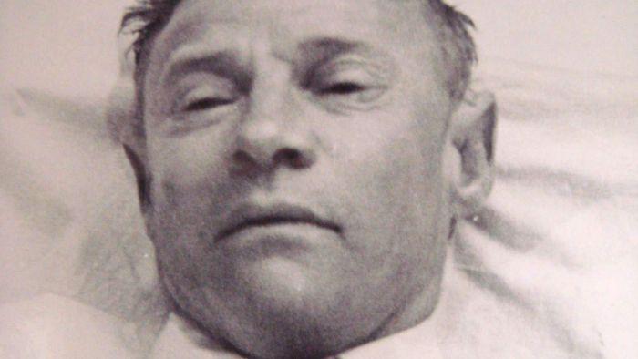 Fotografía del cadáver no identificado