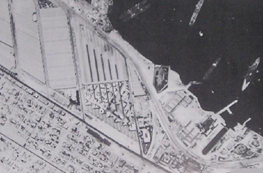 Imagen aérea del falso puerto de Alejandría