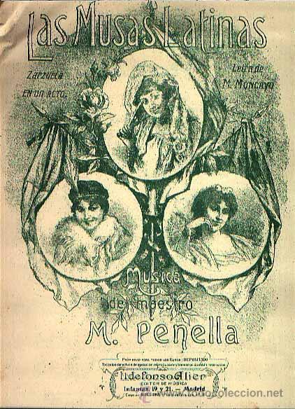 Cartel original de la obra  Las Musas Latinas