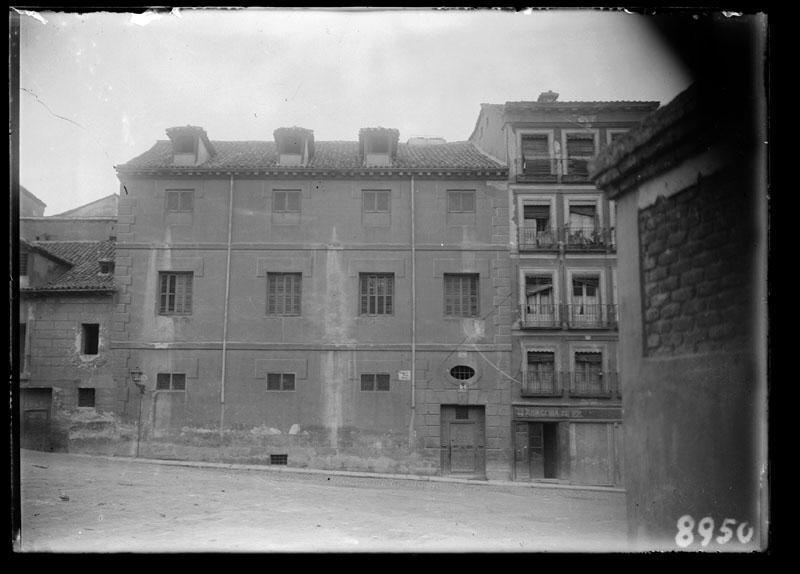 Fachada de la Casa del Pecado Mortal en la desaparecida calle del Rosal