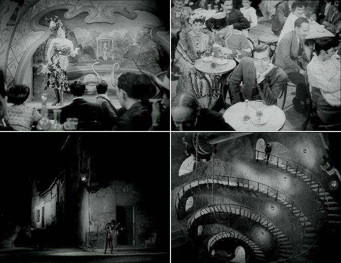 Fotogramas de  La torre de los siete jorobados , en su adaptación al cine por Edgar Neville