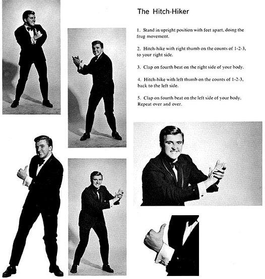 Instrucciones para bailar el Hitch-hike, otro baile similar al shake