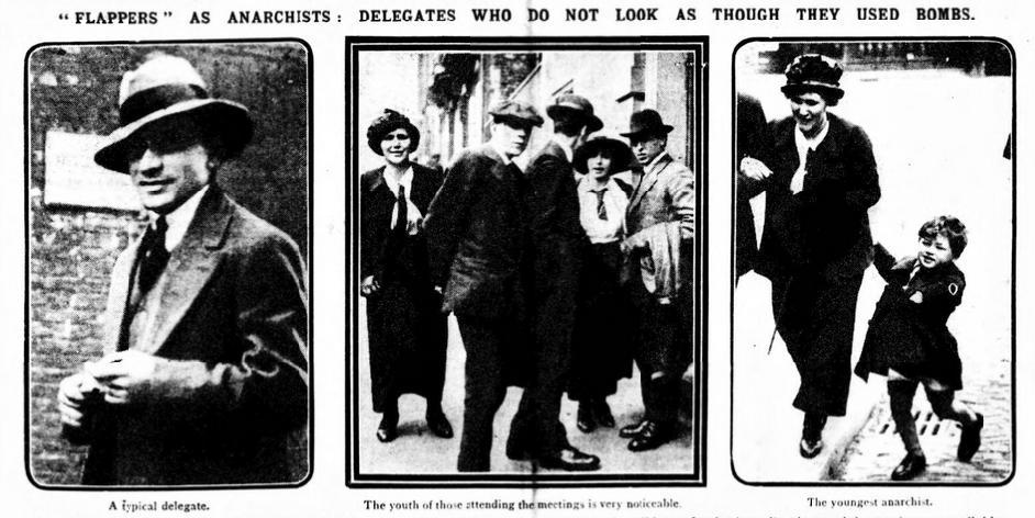 «Flappers como anarquistas» ( Daily Mirror , 14 de abril de 1914)