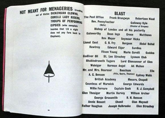 Los manifiestos  Blast  y  Bless  de Lewis y los vorticistas