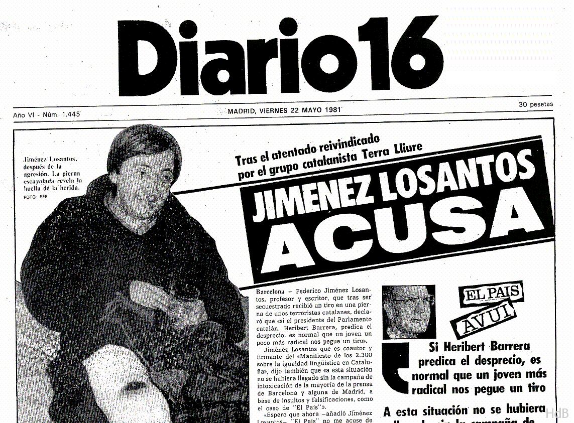 La noticia en  Diario 16  (22 de mayo de 1981)