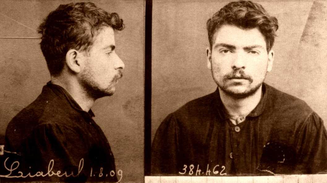 Retrato de la ficha policial de Liabeuf