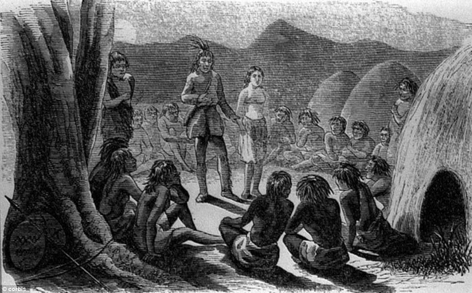 Oatman es presentada a los mohave