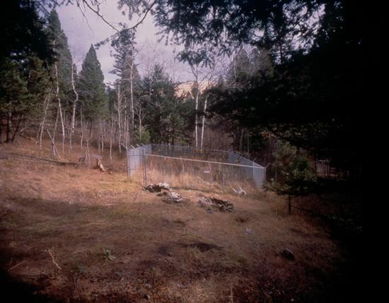 Lugar en que estaba situada la cabaña tras su traslado