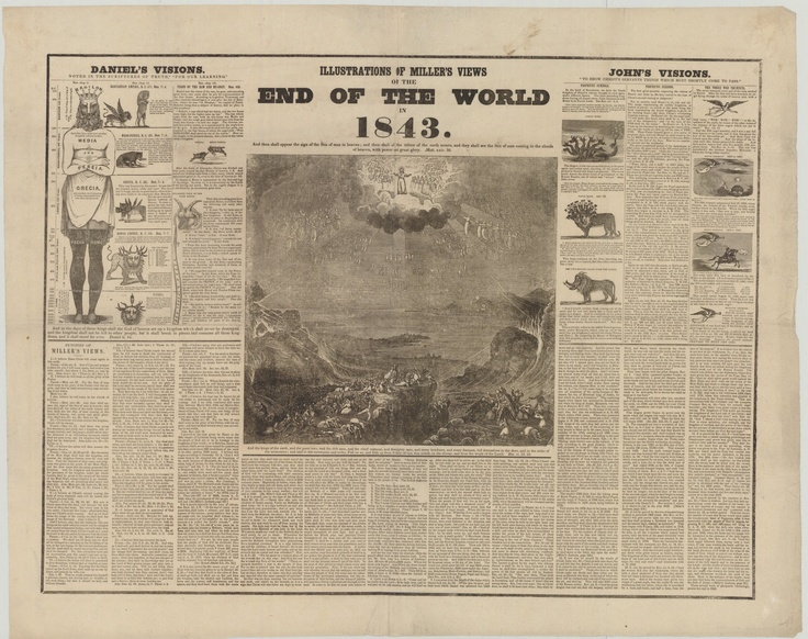 Periódico de la época anunciando la profecía
