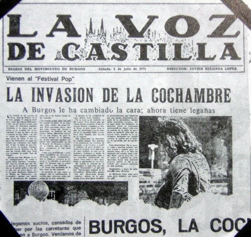 Portada de  La Voz de Castilla  en su edición del sábado 5 de julio de 1975
