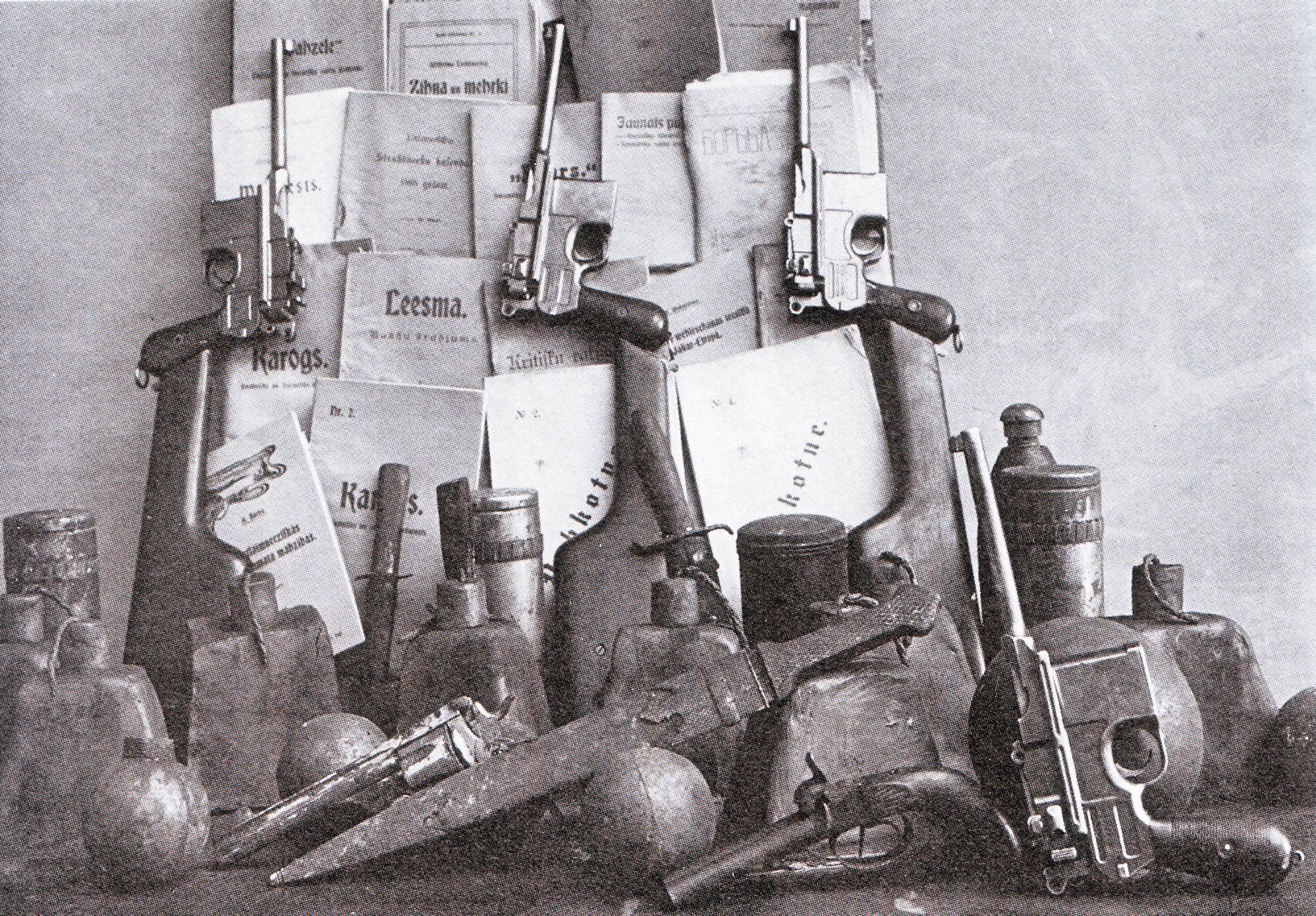 Armas y periódicos ( Leesma ) incautados a anarquistas