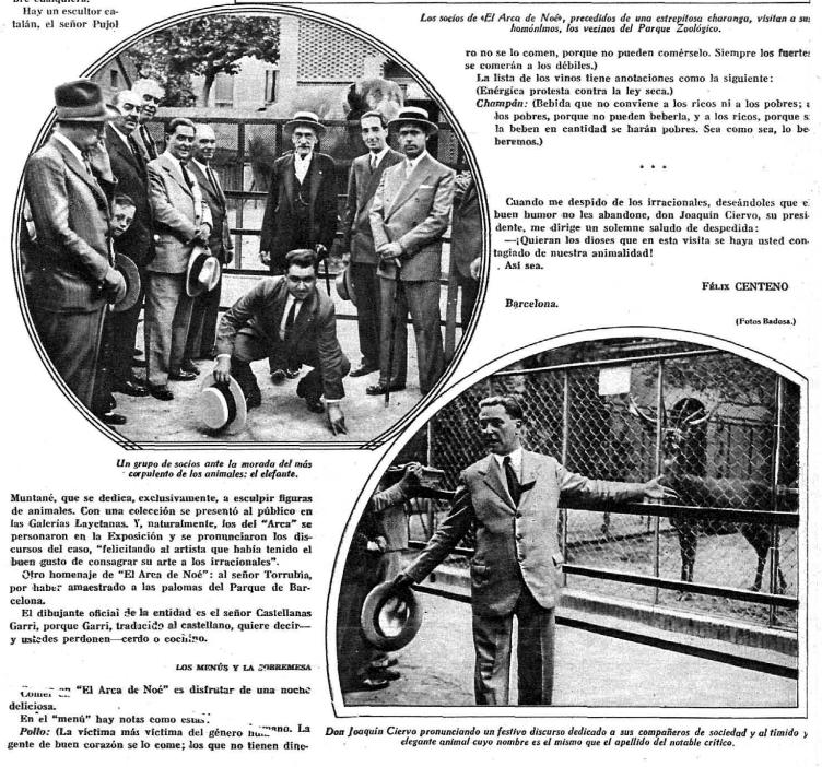 Algunos integrantes del club en el zoo de Barcelona.