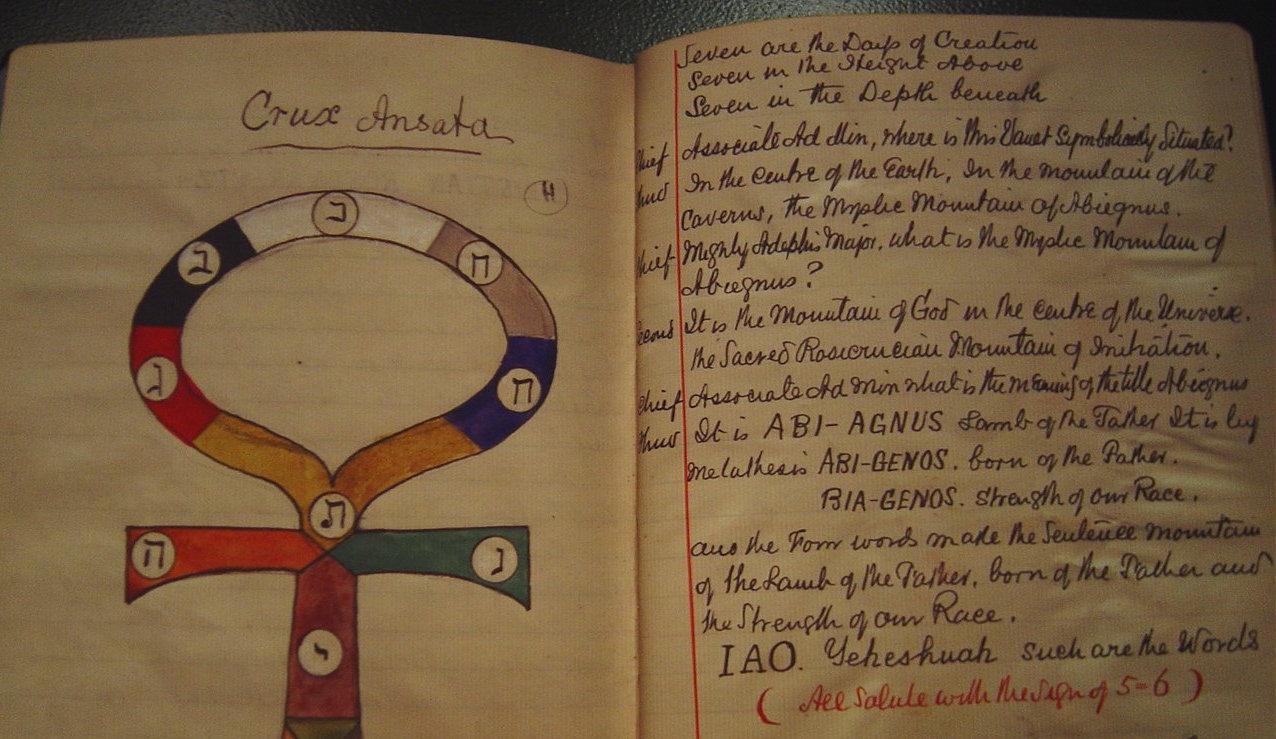Páginas del diario de hechos mágicos de Yeats (Biblioteca Nacional de Irlanda)