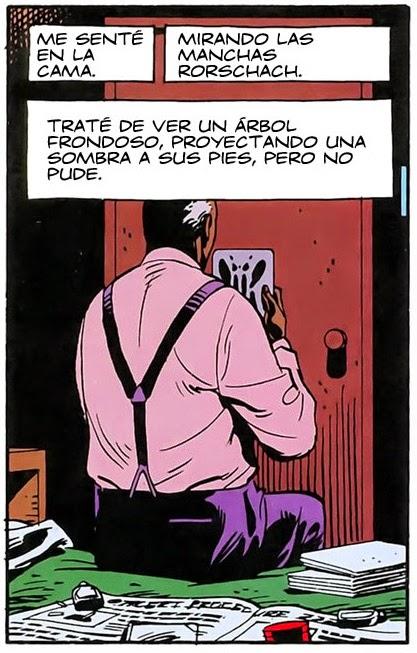 Viñetas de  The Watchmen  de Alan Moore y la mirada del abismo