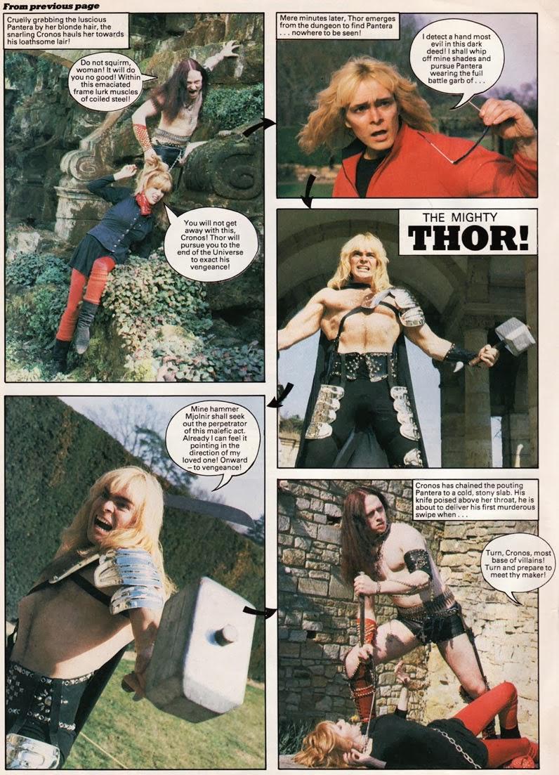 Thor, martillo en mano, se enfrenta a Cronos, de Venom