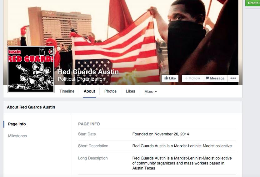 Página de facebook de Red Guards