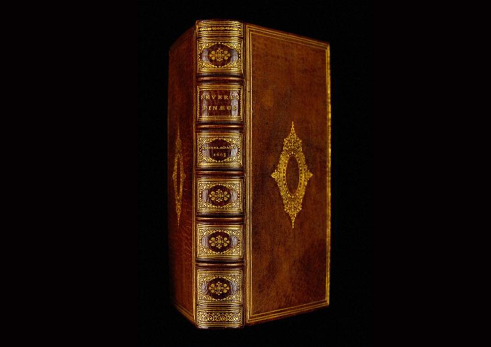 De integritatis et corruptionis virginum notis , un libro hecho con piel humana por Séverin Pineau (1690)