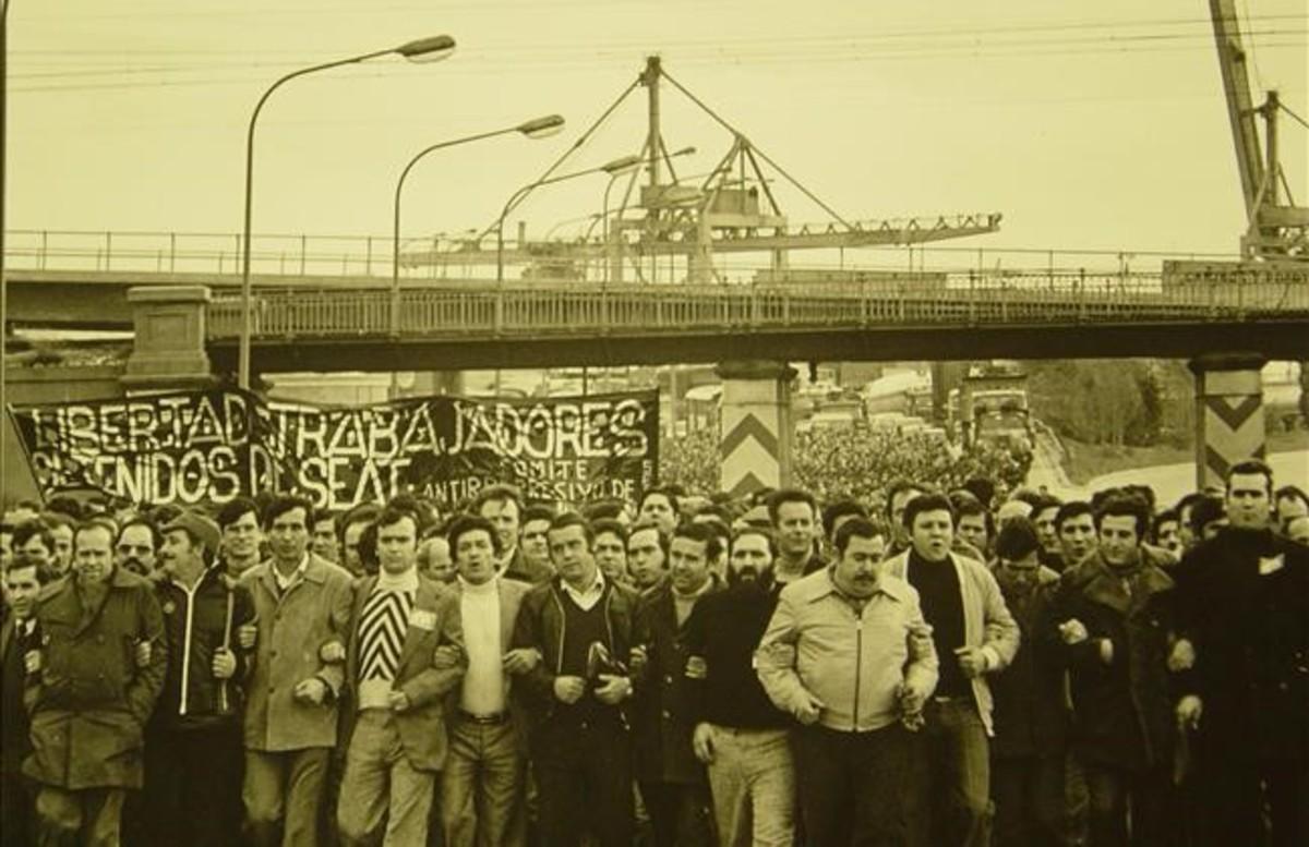 Los trabajadores de Seat toman las calles de Barcelona en protesta por los detenidos.