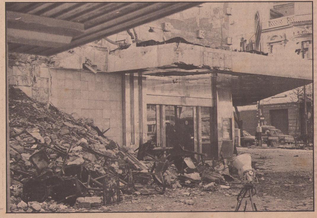 Aspecto de la discoteca Scala tras el incendio.