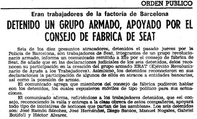 Noticia publicada en  ABC  (22 de abril de 1978).