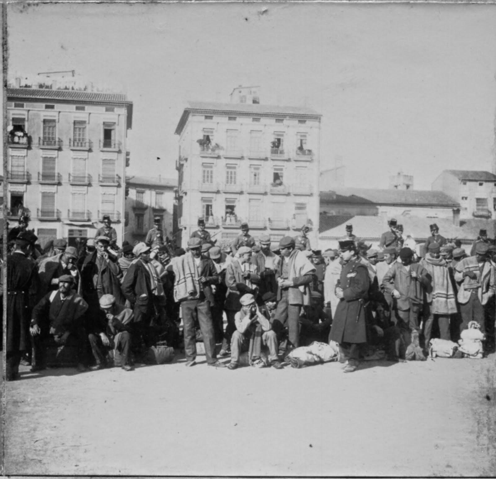 Llegada a Valencia de soldados repatriados