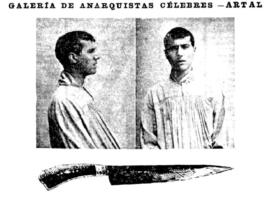 Puñal usado por al anarquista Artal para atentar contra Maura en 1904