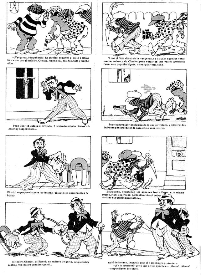 Grupos de apaches en acción. Revista  Charlot  (marzo de 1917)