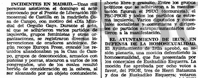 La noticia en el  ABC  (26 de junio de 1979)