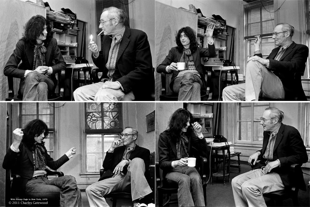 Jimmy Page junto a Burroughs