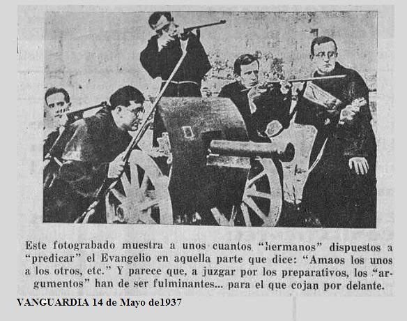 Vanguardia , periódico de las JSU (Juventudes Socialistas Unificadas)