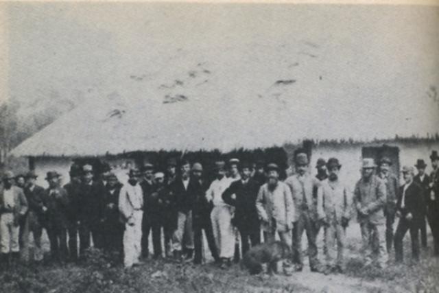 Llegada de los primeros colonos alemanes a Nueva Germania (1886)