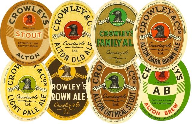 Posavasos publicitarios de la cerveza Crowley