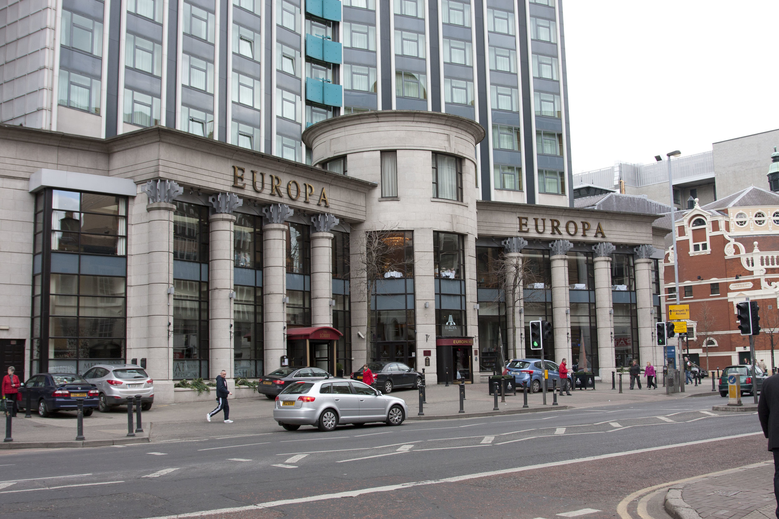 Exteriores del Hotel Europa de Belfast