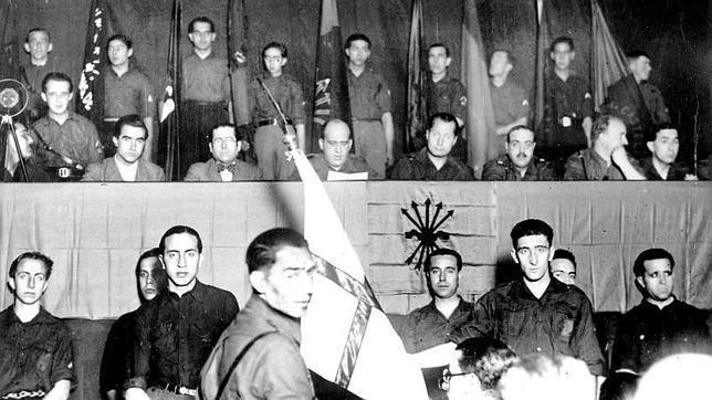 Mitin de la Falange, en Zaragoza (1936)