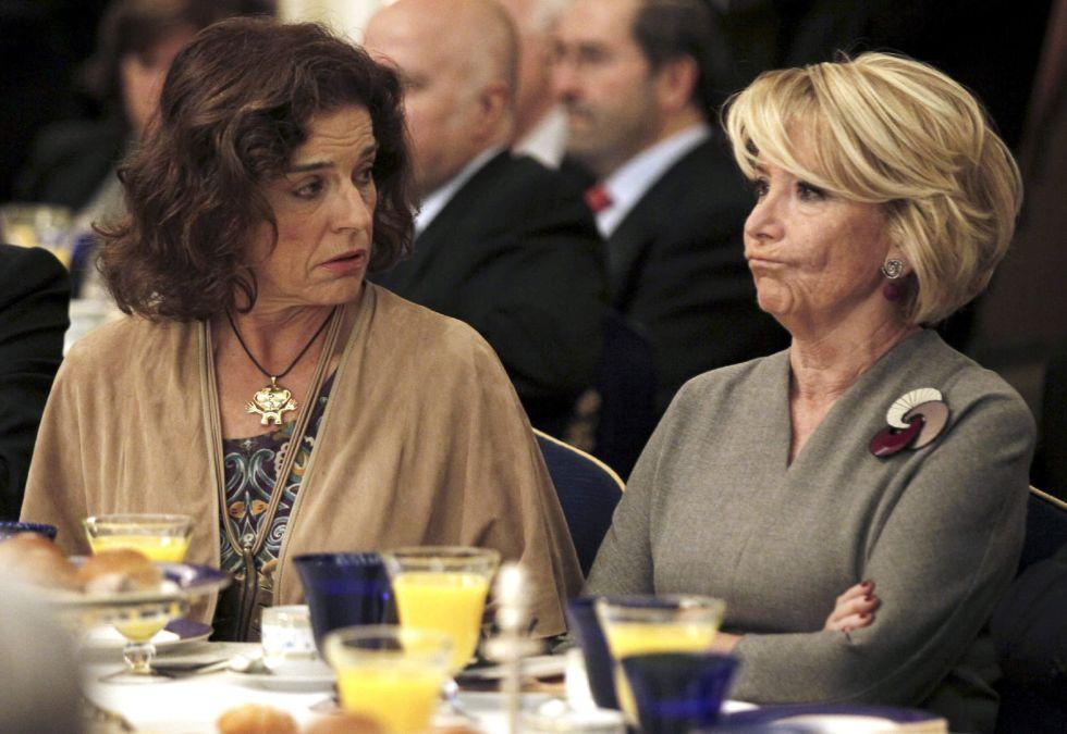 Aguirre junto a Ana Botella (Paco Campos / EFE)