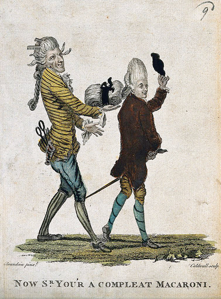 Now Sr. You'r a Compleat Macaroni  (1772)